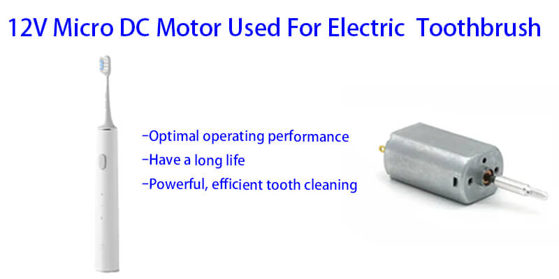 12V Micro DC Motor Model NFP-2033-ST-TT-F9603-4.5 Used For Electric Toothbrush