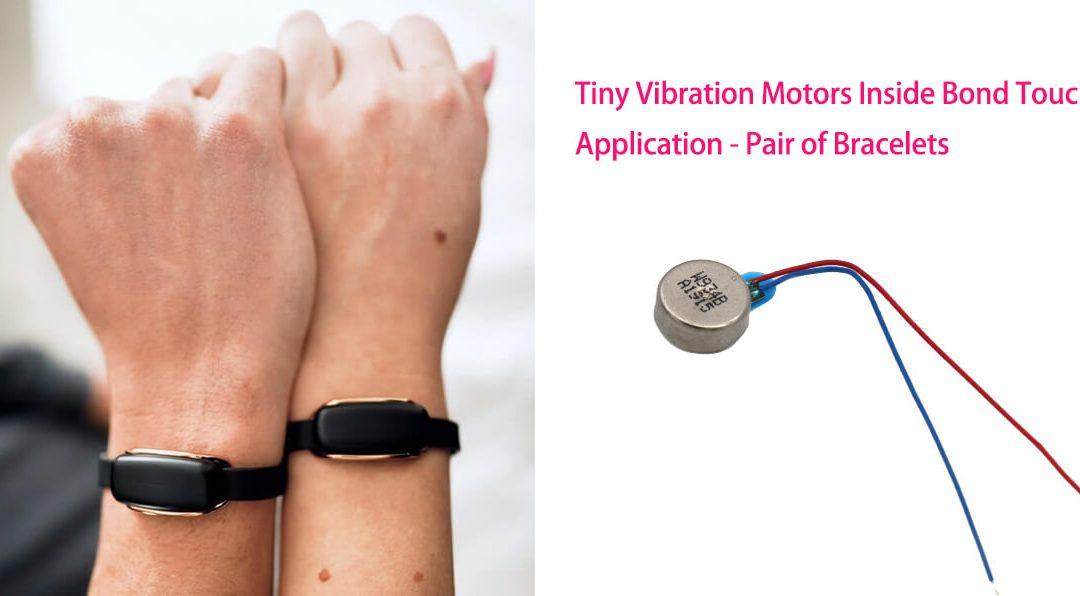 9mm Tiny Vibration Motors Inside Bond Touch Application Pair Of Bracelets