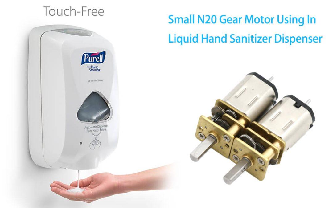 Small N20 Gear Motor Using In Liquid Hand Sanitizer Dispenser